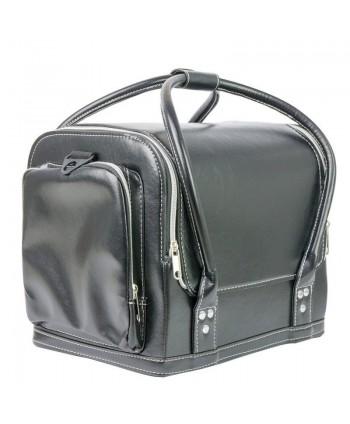 Luxusný kozmetický kufrík - čierny hladký 07