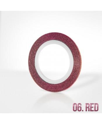 Zdobící pásek 6 - červený s...