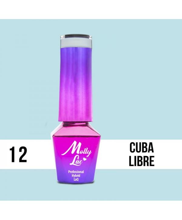 Levně 12. MOLLY LAC gel lak -Cuba Libre 5ML Modrá