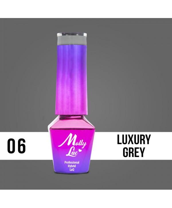 06. MOLLY LAC gel lak - LUXURY GREY 5ML Šedá