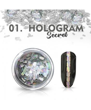 Hologram Secret 01 - stříbrné