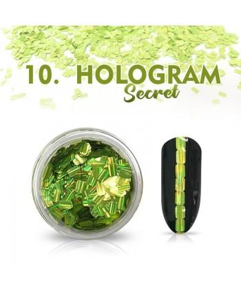 Hologram Secret 10 - zelené
