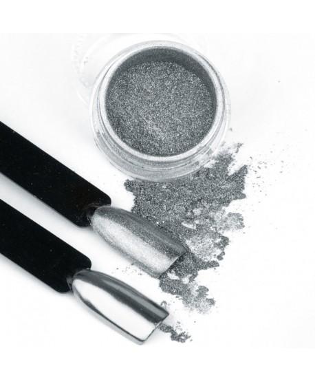 Pigmentový prášek Glass Silver