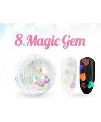 Ozdobné srdíčka Magic Gem 08.