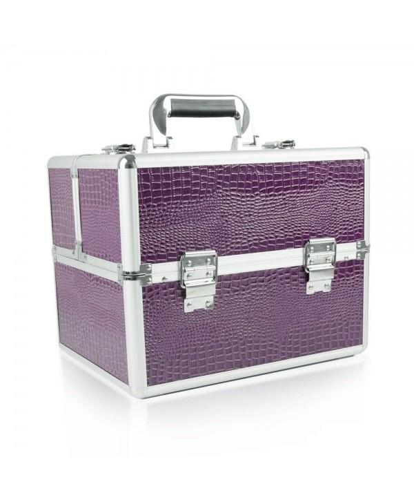 Kosmetický kufřík - fialový krokodýl