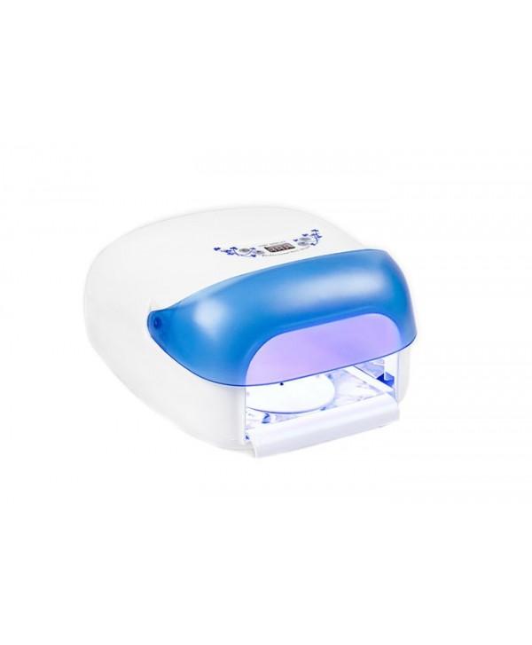 UV lampa na nehty 36 W, se sušičkou - modrá Modrá
