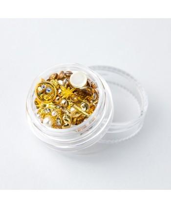 Ozdoby na nehty mix 03 - zlaté
