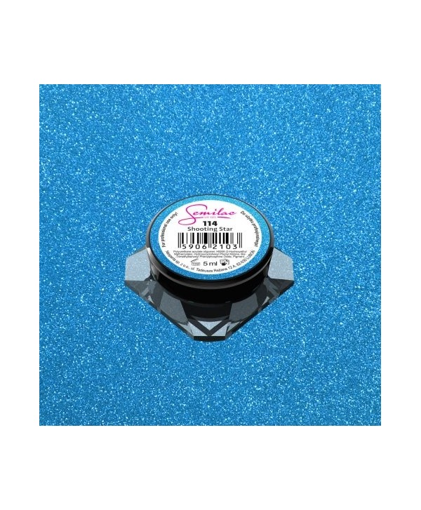 Levně Barevný uv gel Semilac 114 Modrá