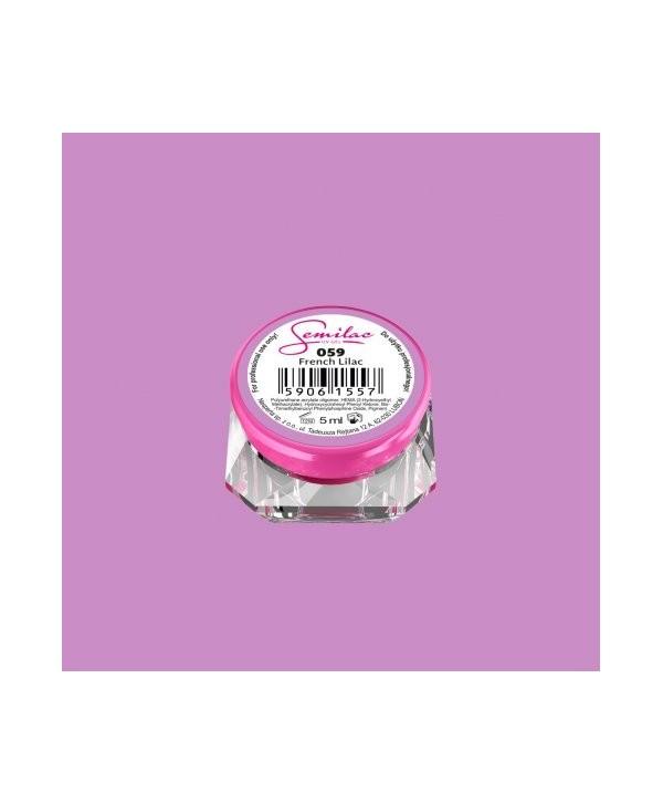 Levně Barevný uv gel Semilac 059 Fialová