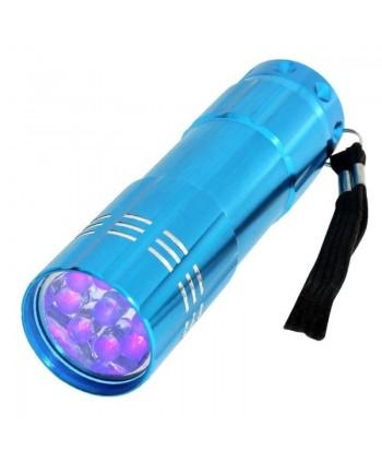 Mini UV LED baterka modrá