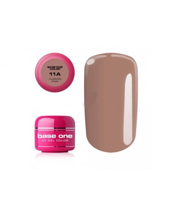 Levně Base one barevný uv gel flaming pink 11A 5g Růžová