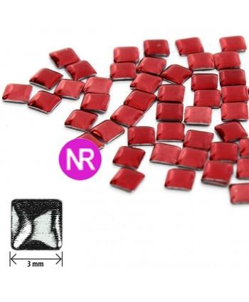 Ozdoby čtverec tmavě červené