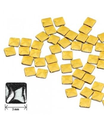 Ozdoby čtverec - zlaté lesklé