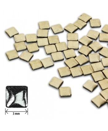 Ozdoby čtverec - hnědé matné