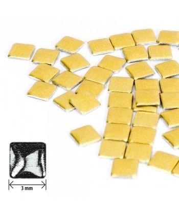 Ozdoby čtverec - zlaté matné