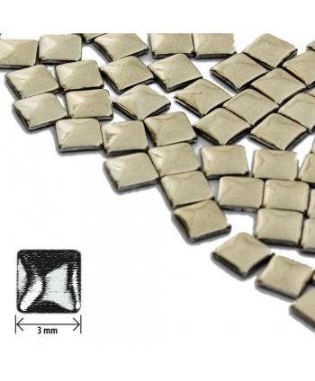 Ozdoby čtverec - hnědé lesklé