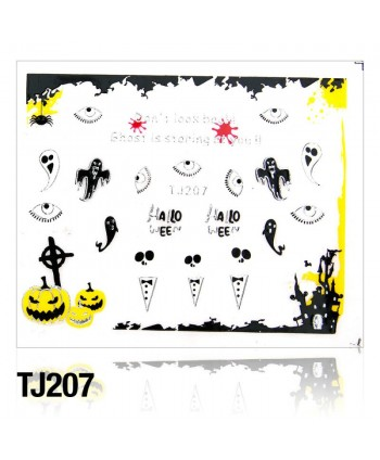 Nálepky na nechty Halloween TJ207