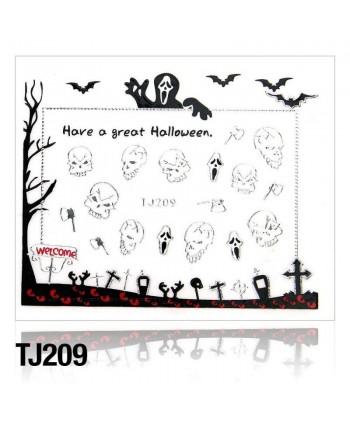 Nálepky na nechty Halloween TJ209