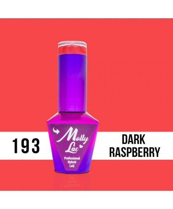 193. MOLLY LAC gél lak - DARK RASPBERRY  5 ml