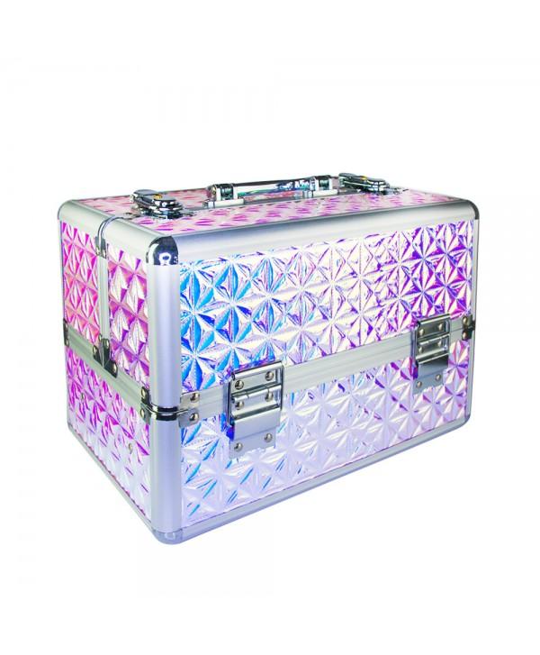 Kosmetický kufřík Unicorn růžový 601-4