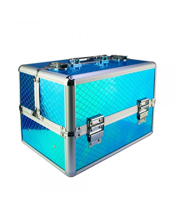 Kozmetický kufrík Unicorn modrý 602-3