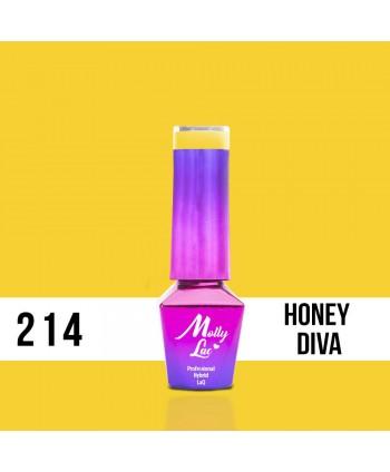 214. MOLLY LAC gél lak - Honey Diva 5ml
