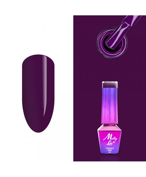 213. MOLLY LAC gél lak - Naughty Purple 5ml