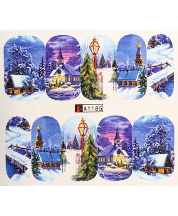 Vianočná vodolepka X-mas A1185
