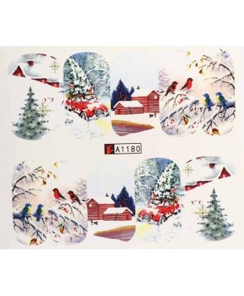 Vianočná vodolepka X-mas A1180