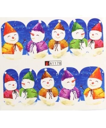 Vianočná vodolepka X-mas A1178
