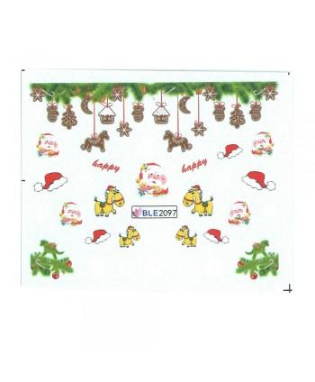 Vianočná vodolepka X-mas BLE2097