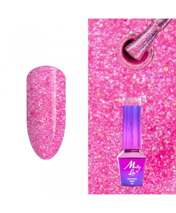 313. MOLLY LAC glitrový gél lak - Uptown Girl 5ml
