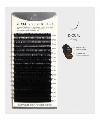 Hodvábne norkové PS riasy D 0,10 MIX dĺžok 8-16 mm