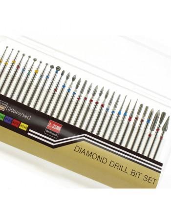 Sada diamantových nástavcov 30ks  typ 1-3