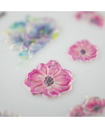 5D nálepka na nechty 568 - kvety