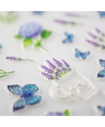 5D nálepka na nechty vzor 18 - kvety, motýle
