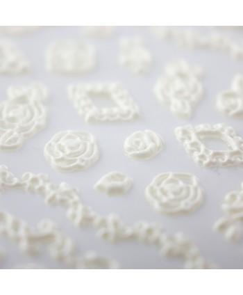 5D nálepka na nechty 31 - kvety