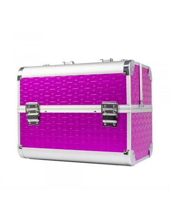 Kozmetický kufrík na lampu  De Luxe K068-43 fuchsia