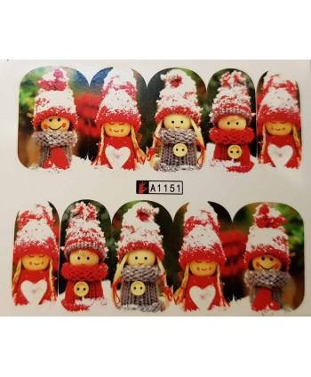Vianočná vodolepka X-mas A1151
