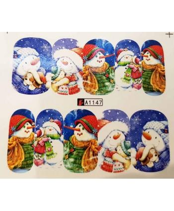 Vianočná vodolepka X-mas A1147