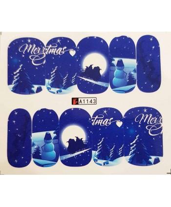 Vianočná vodolepka X-mas A1143