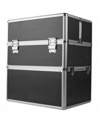 Dvojdielny kozmetický kufrík - čierny M-3N