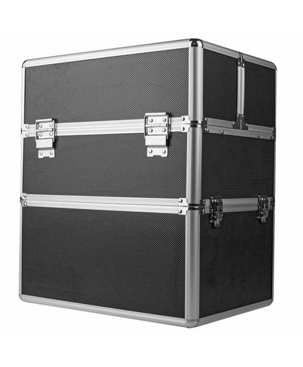 Dvoudílný kosmetický kufřík - černý M-3N Černá