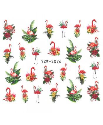 Vodonálepky s motívom plameniaka YZW-3076