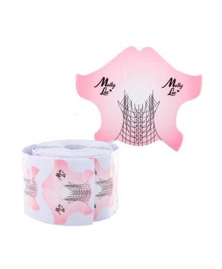 Šablony na nehty Molly Salon Line 100ks růžové