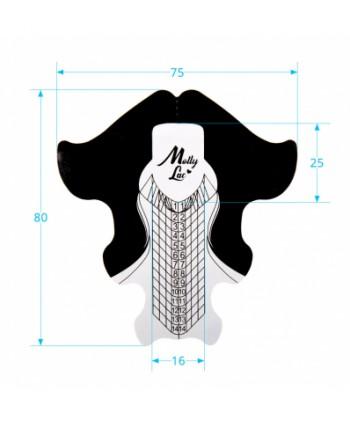 Šablóny na nechty Molly  Premium Aluminium 100ks