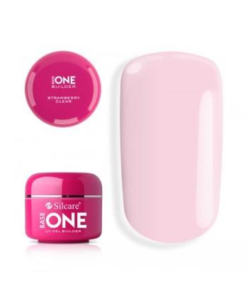 Base one UV gél Clear 30g - Strawberry clear