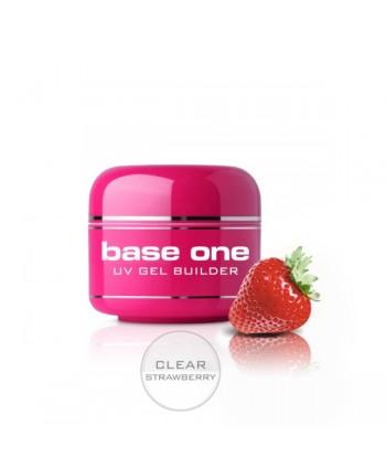 Base one UV gél Clear 50g - Strawberry